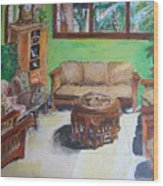 Reading Room Wood Print
