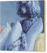 Ready For Her Closeup Wood Print by Kimberly Santini