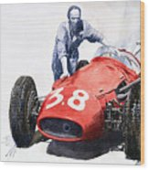 Ready For Racing Maserati 250 F Wood Print