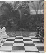 Ready Set Chess Wood Print