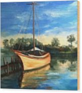 Ready To Sail Wood Print