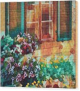 Ready To Water The Garden Oil Painting Wood Print
