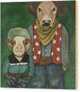 Real Cowboys 3 Wood Print