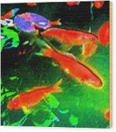 Real Gold Fish Wood Print