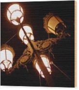 Real Lights Wood Print