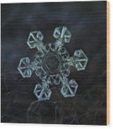 Real Snowflake - Ice Crown New Wood Print