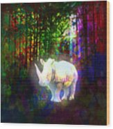 Real Unicorn Wood Print