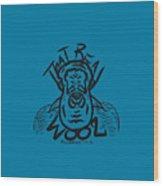 Real Wool Blue Wood Print
