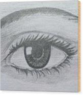 Realistic Eye Wood Print