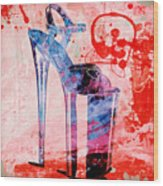 Big Bad Stiletto  Wood Print