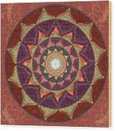 Realm Of The Desert Lotus Mandala Wood Print