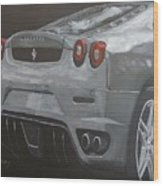 Rear Ferrari F430 Wood Print