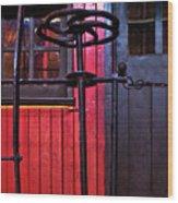 Rear Platform Wood Print