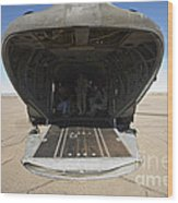 Rear Platform Of A Ch-47 Chinook Wood Print