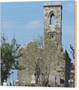 Rear View Fuerty Church And Cemetery Roscommon Ireland Wood Print