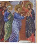 Reassuring Thomas Fragment 1311 Wood Print