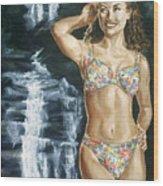 Rebecca Gayheart Wood Print