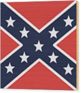 Rebel Flag Wood Print