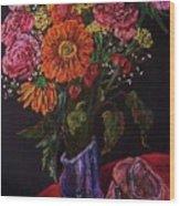 Recital Bouquet Wood Print