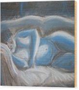 Reclining Blue Wood Print