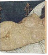 Reclining Female Nude Wood Print