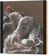 Reclining Figure With Skirt Wood Print