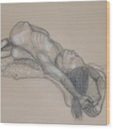 Reclining Nude 1 Wood Print