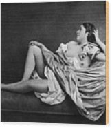 Reclining Nude, 1859 Wood Print
