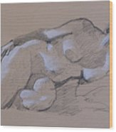 Reclining Nude 2 Wood Print