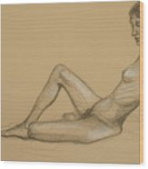 Reclining Nude 3 Wood Print