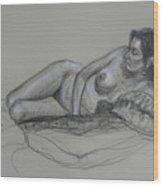 Reclining Nude 5 Wood Print