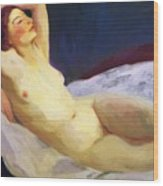 Reclining Nude Barbara Brown 1916 Wood Print