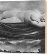 Reclining Nude, C1895 Wood Print
