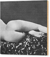 Reclining Nude: Rear View Wood Print