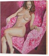 Reclining Nude Wood Print