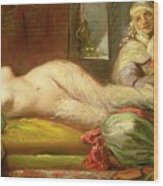 Reclining Odalisque Wood Print