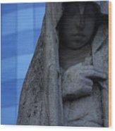 Recoleta Statue Wood Print
