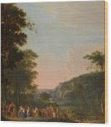 Reconciliation Of Jacob And Esau Wood Print