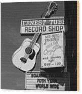 Record Shop- By Linda Woods Wood Print