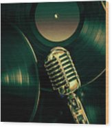 Recording Studio Art Wood Print