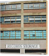 Records Storage- Nashville Photography By Linda Woods Wood Print