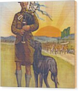 Recruitment Poster The Call To Arms Irishmen Dont You Hear It Wood Print