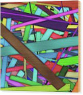 Rectangle Matrix 24 - Amcg20180305 40 X 27 Wood Print