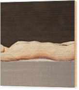 Recumbent Nude Wood Print