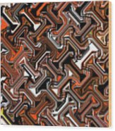 Recurring Pattern Abstract Wood Print