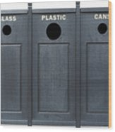 Recycle Bins For Glass Plastic Cans Wood Print