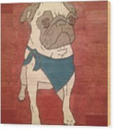 Recycled Pug Wood Print