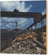 Recycling Scrap Steel During World War Wood Print