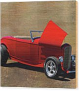 Red 1932 Ford Hot Rod  Wood Print