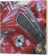Red 1938 Plymouth Wood Print